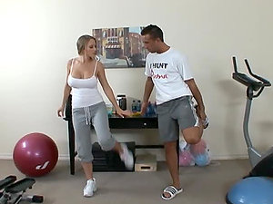 Blonde Stunner Abby Road Gets Her Moist Beaver Fucked by Her Sport Trainer