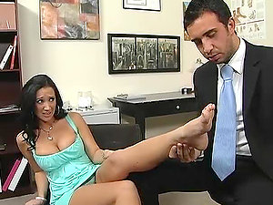 Foot worship Activity in the Doc's Office with Big-titted Cockslut Jayden Jaymes