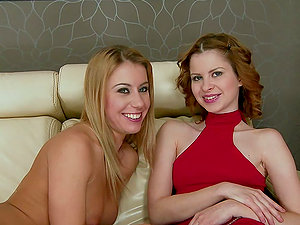 Judy Smile gets her nice snatch toyed and fisted by Nikky Thorne