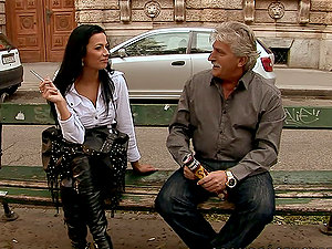 A Majestic Raven Haired Mature Has Fucky-fucky With An Older Man