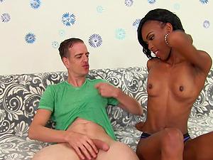 ebony Shyra Foxx decides to surprise her friend with wild sex