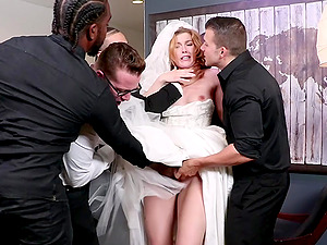 Ella Nova needs more than two hard penises to feed her sexual desire