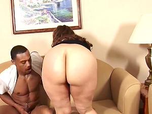 Interracial BBW Big Girl Handles The BBC