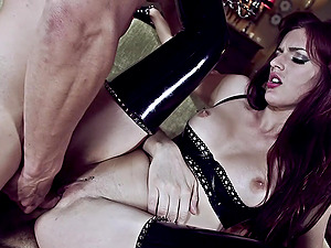 Two hard cocks can satisfy all sexual needs of hot and wild Mira