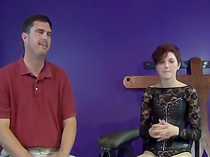 Older guy is quite experienced when it comes to pegging but this is his first time on camera!