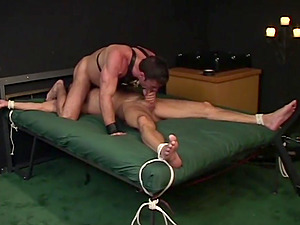 Bondage experience and role play are priceless for gay Jason Branch