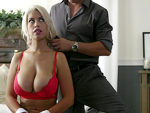 Stunning Bridgette B wears sexy lingerie for fucking without mercy