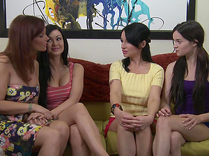 Angie Noir and Jenna J Ross are ready for a lesbian sex and pussy eating