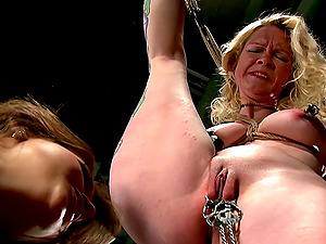 Bondage and torture is a new experience for lesbian Nika Noire
