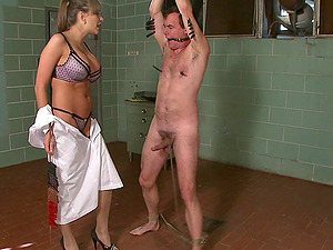 Busty Nika Noire wants to punish her lover with BDSM sex game