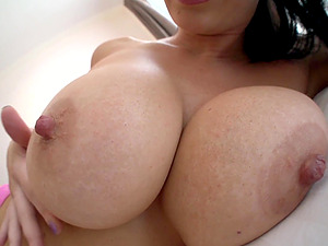 massive tits Jayden Jaymes makes hard dick disappears in her pussy
