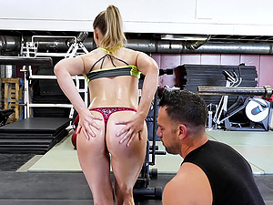 Riley Reyes wants to try every posible sex pose with her friend at the gym