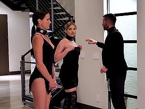 Serena Avery and Sofie Marie love slave roles and hard sex with a guy
