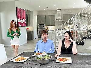 Amazing Dani Jensen enjoys sex on the kitchen floor with a dude
