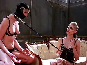Natalie Mars and Goddess Kyaa enjoy a lesbian threesome with one more girl
