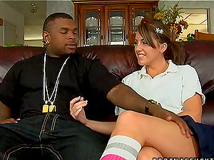 Rough Romp With A Black Dick For Nikki Anne
