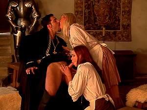 Medieval maid, Carla Cox had a threesome the ot