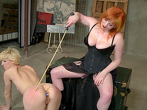 spanking gives a new level of sexual pleasure for Goddess Starla and Ava