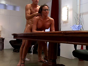 Adriana Deville gets her cunt pounded by a dude in many different ways