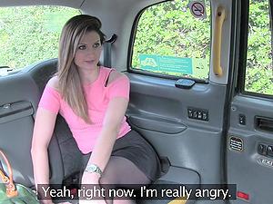 Eva Johnson adores when the driver fucks her badly in the taxi