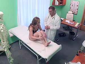 Horny doctor decides to fuck his sweet patient on the hospital bed