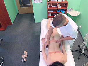 Anie gets fucked by hard doctor's boner on the hospital's bed