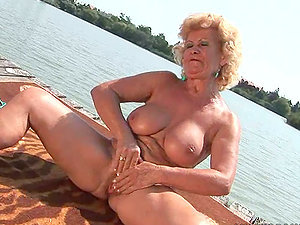 69 and Strapon Fuck-a-thon Act in Crazy Lezzie Vid with Granny and Nubile