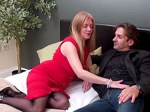 Busty british mature got cock in between her enormous breasts and got fucked