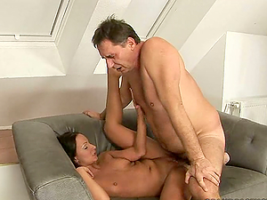 Fat Geezer Gets Some Kinky Activity With A School Woman