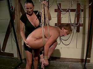 Mandy Bright and Szilvia Lauren go crazy while playing lezzie games
