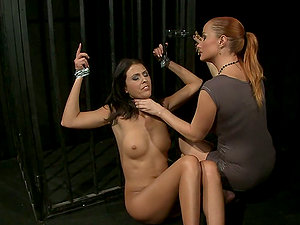 Sweet Claudia deepthroats a faux-cock before getting her snatch pounded