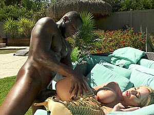 There is nothing better for busty Savannah Bond than a sex by the pool
