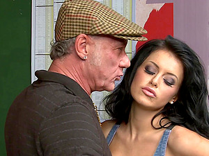 Horny chick Tiffany Diamond gets her juicy pussy fingered and banged