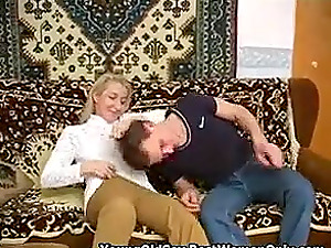 Skinny Russian Mom Small Boobs Fucked By Young Guy