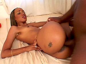 Booty dark-hued angel Kapri Styles got some hot tattoos on her butt cheeks