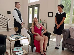 Bisexual threesome with Sarah Vandella gives the best orgasm ever