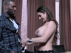 MILF Cathy Heaven takes a BBC up her ass