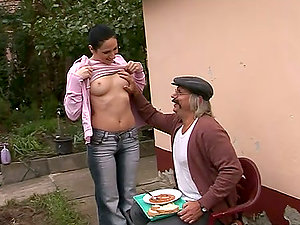 Countryman's delight with a sexy and petite teenage