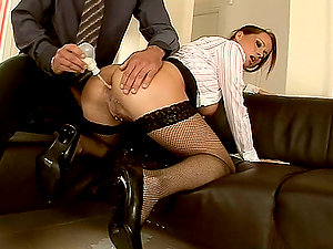 Insatiable assistant dreamed to get her manager laid