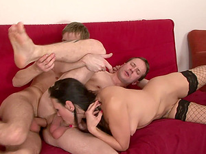 Bisexual group experience with Mia Melone is memorable for everyone
