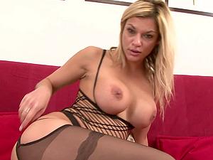 Blonde slut Klarisa Leone loves to be fucked in both holes during sex