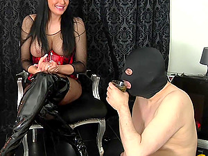 German femdom domina spitting and piss for bdsm