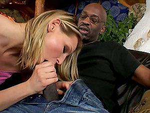Sexy Liz Honey has xxx hookup with Black boy