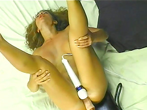 Latina got her slippery pussy drilled by her favorite dildo machine