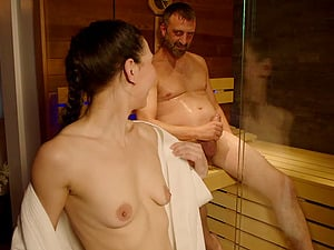 Lovely Liesje gets ass fucked in the sauna