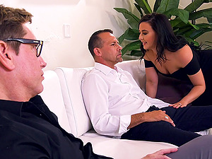 Husband agrees to watch his wife being fucked by another dude