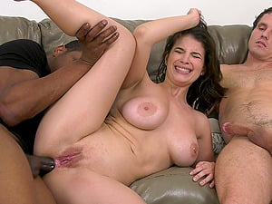 Cuckold husband jerks off while wife LaSirena69 rides a black cock