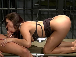 Ann Marie Rios rides her lovers fat cock cowgirl style and moans