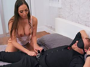 Playful girls Desiree Dulce and Gianna Dior share one large cock
