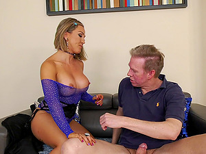 Mature blonde Betty Foxxx with big ass fucked in all holes